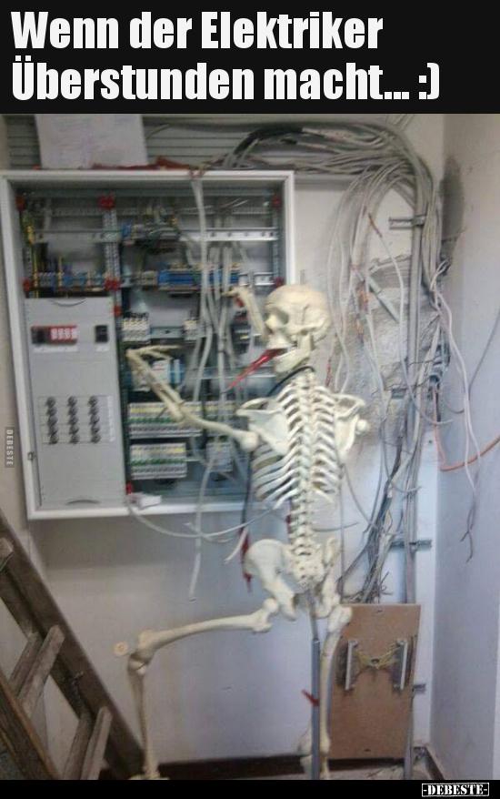 Wenn der Elektriker Überstunden macht :) | Lustige
