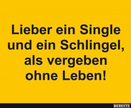 sprüche single Lieber ein Single und ein Schlingel.. | Lustige Bilder, Sprüche  sprüche single