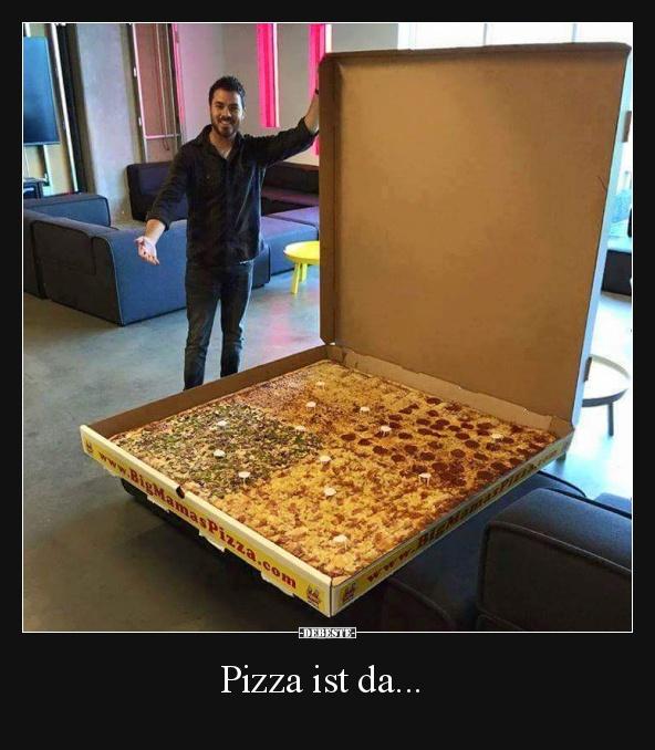 die groesste pizza lustige bilder lustig foto. Black Bedroom Furniture Sets. Home Design Ideas
