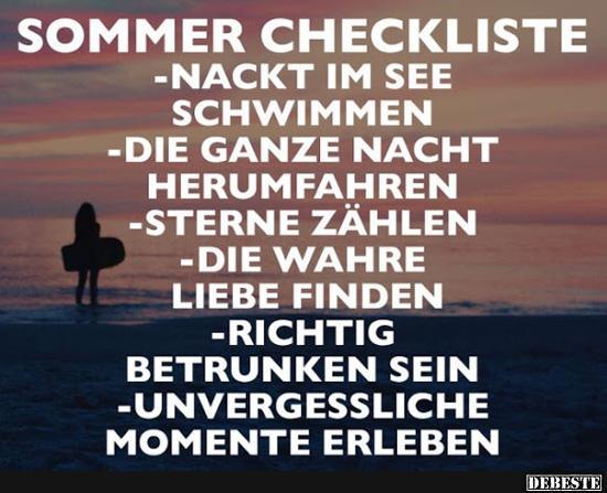 lustige sprüche sommer Sommer Checkliste.. | Lustige Bilder, Sprüche, Witze, echt lustig lustige sprüche sommer