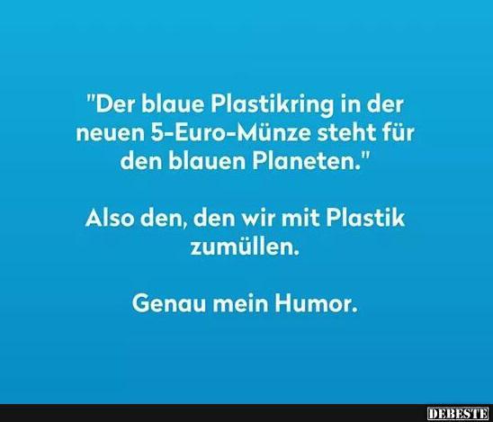 Der Blaue Plastikring In Der Neuen 5 Euro Münze Steht Für