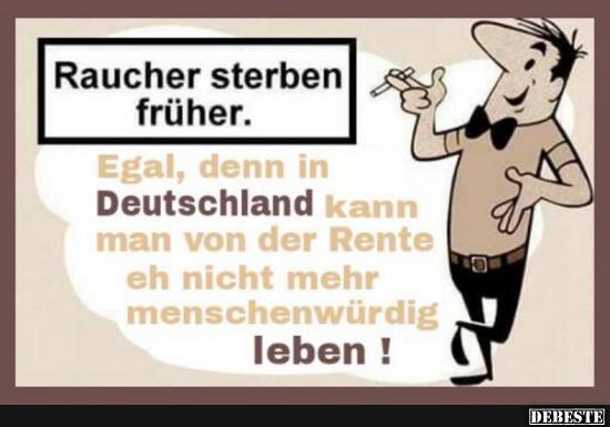 Raucher Sterben Früher!