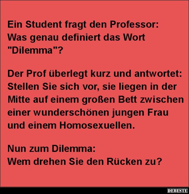 Schön Ein Student Fragt Den Professor.