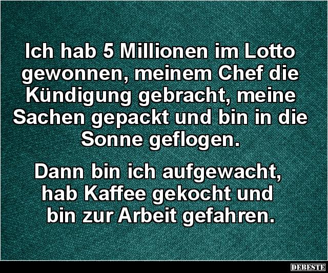 Ich Habe Millionen Im Lotto Gewonnen