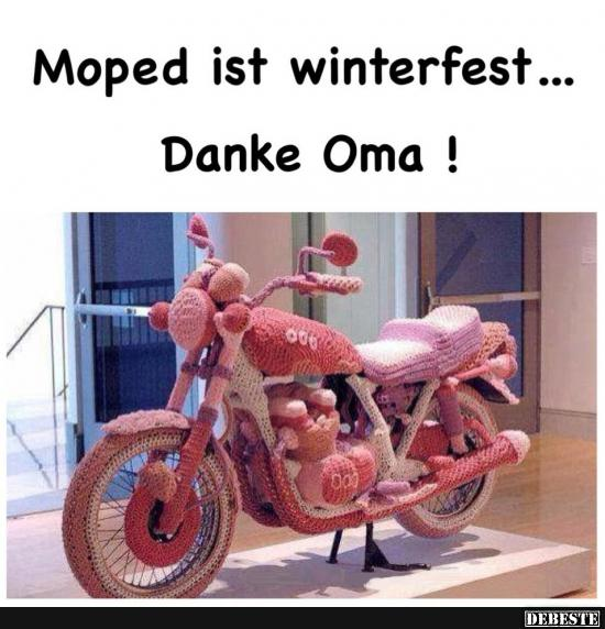 moped ist winterfest danke oma lustige bilder spr che witze echt lustig. Black Bedroom Furniture Sets. Home Design Ideas