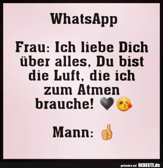 Liebe sprüche whatsapp ICH LIEBE