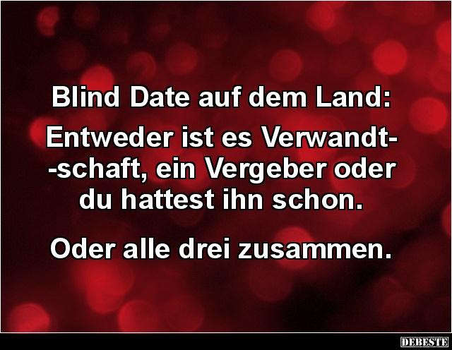 Blind Date Auf Dem Land Entweder Ist Es Verwandtschaft Lustige
