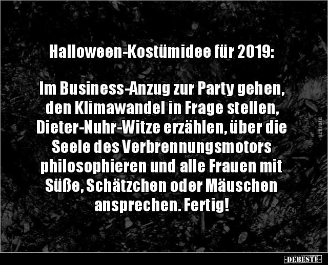 Halloween Kostumidee Fur 2019 Im Business Anzug Zur Lustige Bilder Spruche Witze Echt Lustig