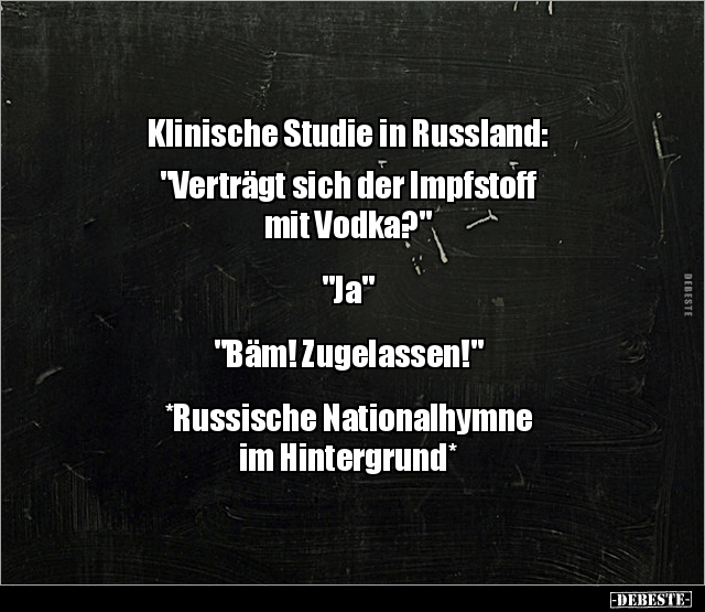 Klinische Studie In Russland Vertragt Sich Der Lustige Bilder Spruche Witze Echt Lustig