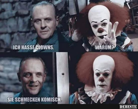 Ich hasse Clowns.. | Lustige Bilder, Sprüche, Witze, echt lustig