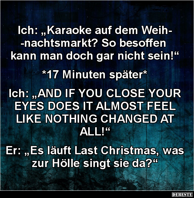Ich Karaoke Auf Dem Weihnachtsmarkt Lustige Bilder