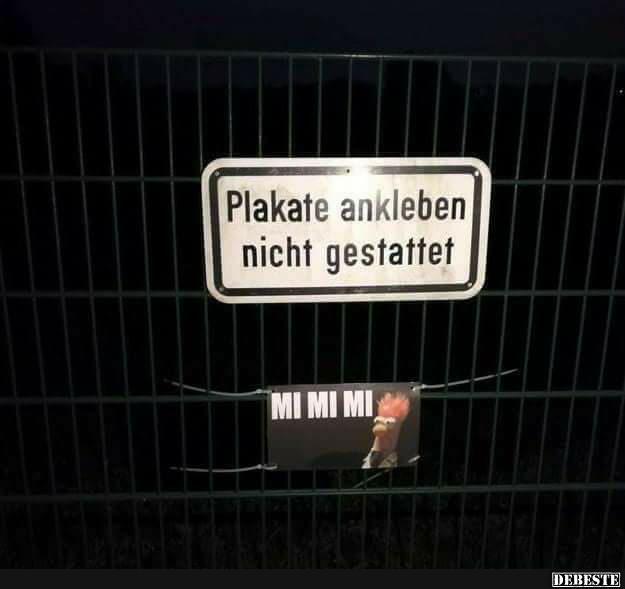Plakate Ankleben Nicht Gestattet Lustige Bilder Spruche Witze