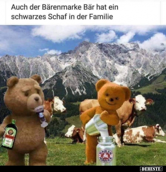 Auch Der Bärenmarke Bär Hat Ein Schwarzes Schaf In Der