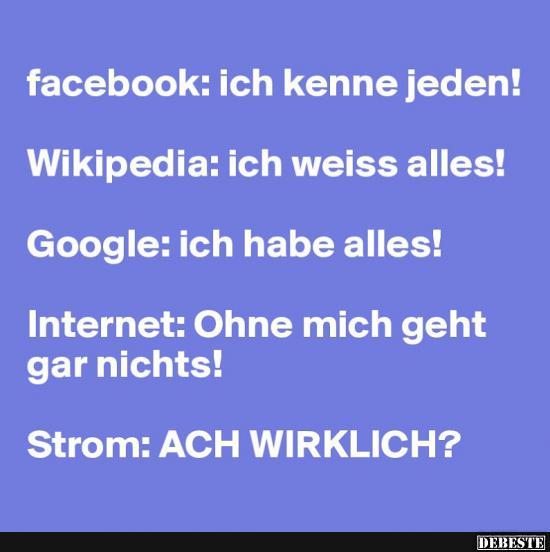 facebook sprüche Facebook: Ich kenne jeden! | Lustige Bilder, Sprüche, Witze, echt  facebook sprüche