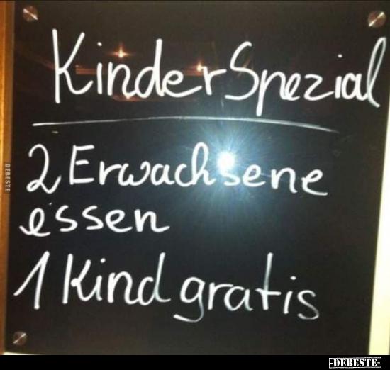 Kinder Spezial 2 Erwachsene Essen 1 Kind Gratis