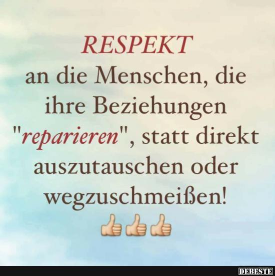 Respekt An Die Menschen Die Ihre Beziehungen Reparieren