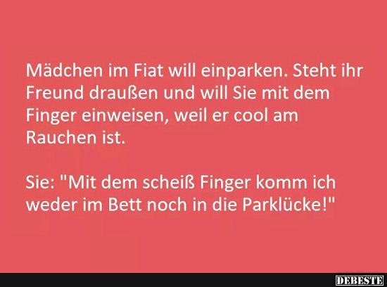 Madchen Im Fiat Will Einparken Lustige Bilder Spruche Witze
