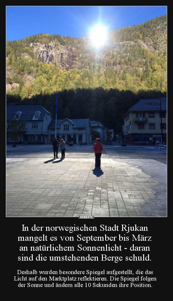 In Der Norwegischen Stadt Rjukan Mangelt Es Von September