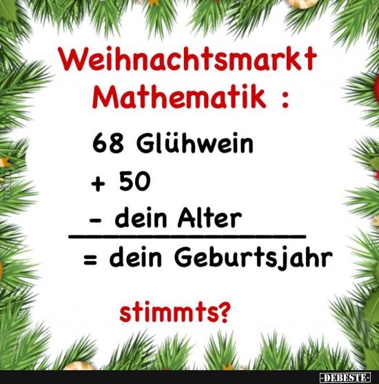 Weihnachtsmarkt Mathematik Lustige Bilder Sprüche