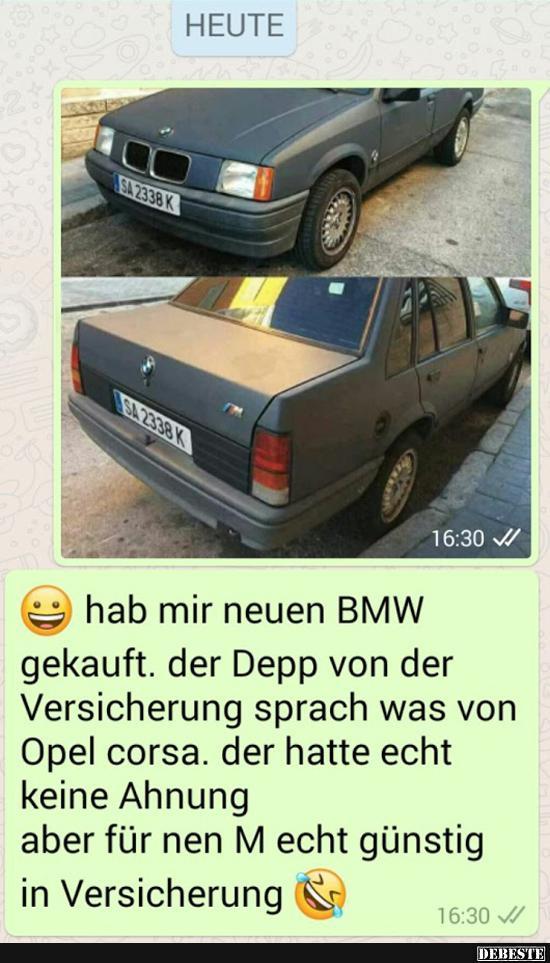 Hab mir neuen BMW gekauft.. | Lustige Bilder, Sprüche, Witze, echt