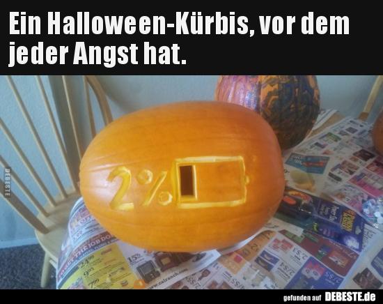 Ein Halloween Kürbis Vor Dem Jeder Angst Hat Lustige