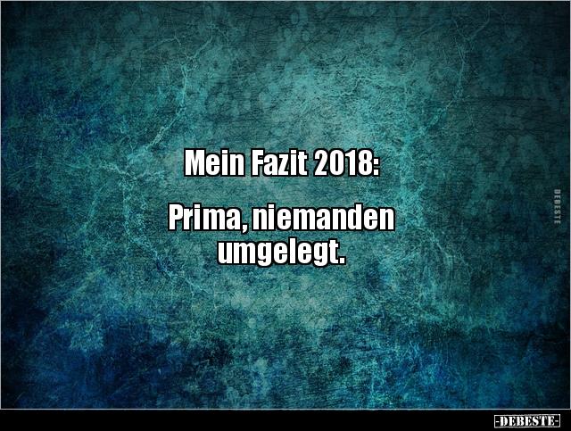 Mein Fazit 2018 Prima Niemanden Umgelegt Lustige Bilder