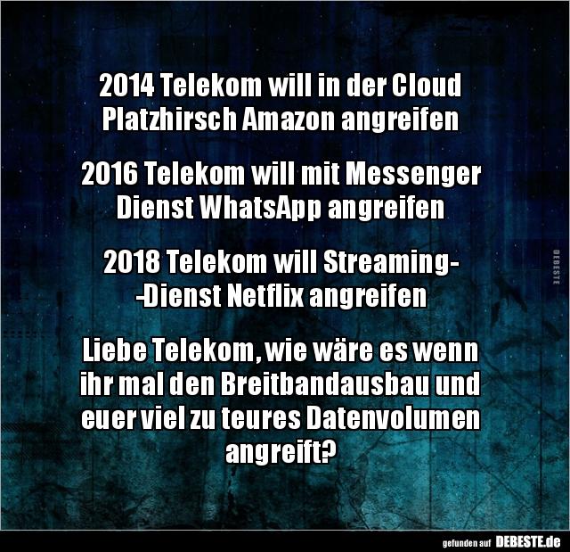 2014 Lustige Spruche.2014 Telekom Will In Der Cloud Platzhirsch Amazon