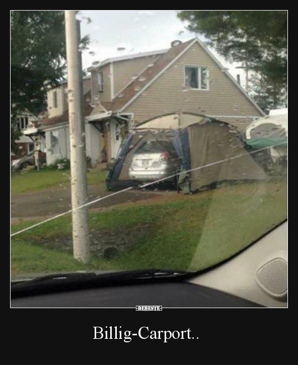 Billig-Carport.. | Lustige Bilder, Sprüche, Witze, echt lustig
