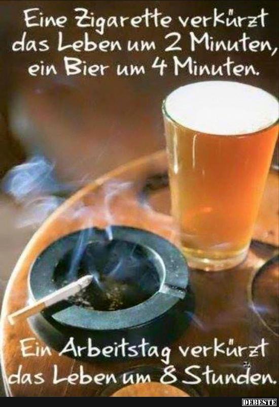 Ein Zigarette verkürzt das Leben um 2 Minuten.. | Lustige