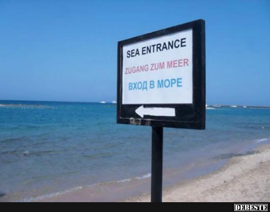 Zugang Zum Meer... Beinahe übersehen!