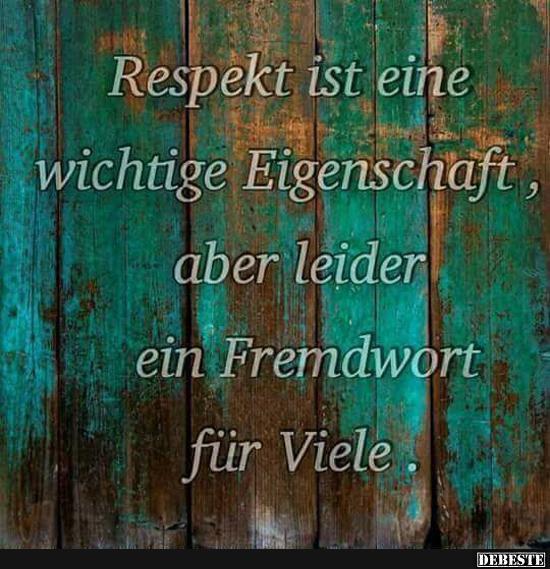 respekt sprüche Respekt ist eine wichtige Eigenschaft.. | Lustige Bilder, Sprüche  respekt sprüche