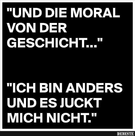 Schön Und Die Moral Von Der Geschicht.
