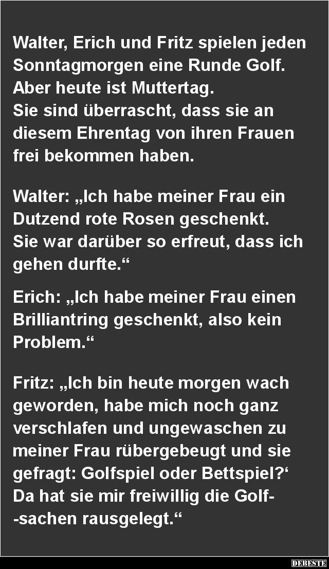 Walter Erich Und Fritz Spielen Jeden Sonntagmorgen Lustige