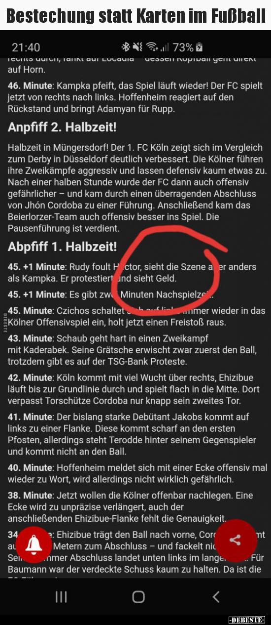 Bestechung Statt Karten Im Fussball Lustige Bilder