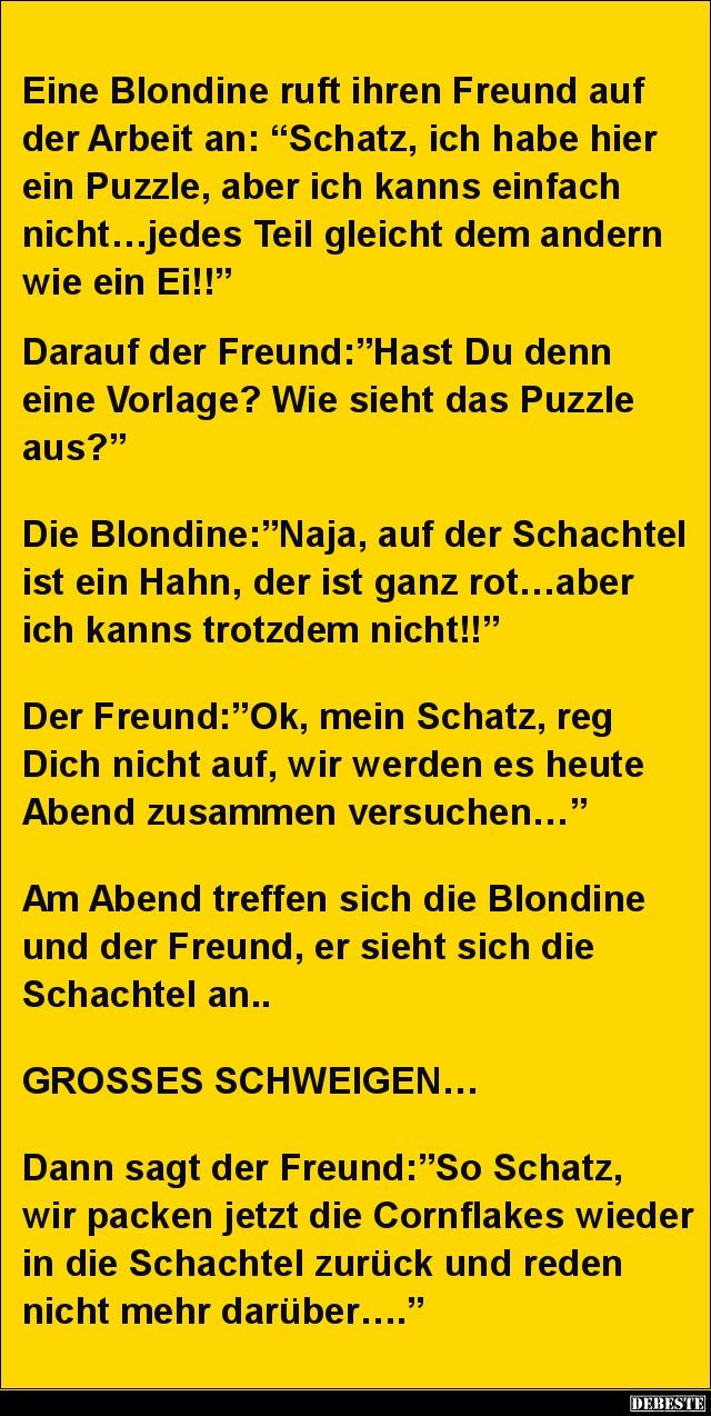 Sprüche Blondinen