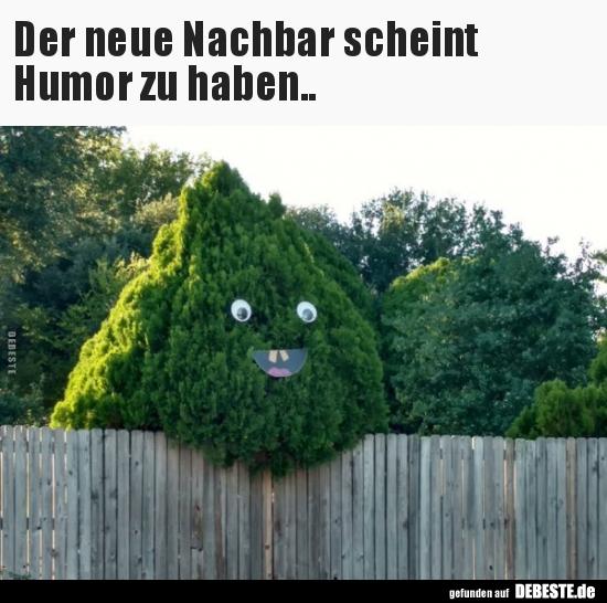 Der neue Nachbar scheint Humor zu haben..   Lustige Bilder ...