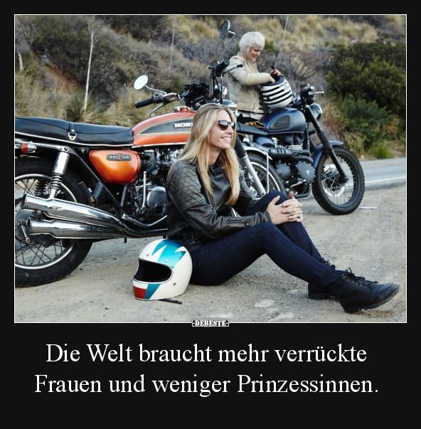 Lustig frau motorrad Frauen Motorrad