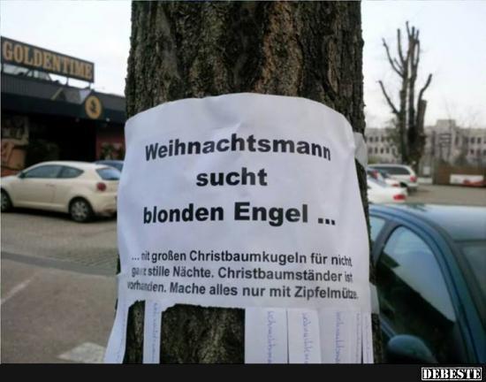 Weihnachtsmann sucht blonden Engel.. | Lustige Bilder, Sprüche ...