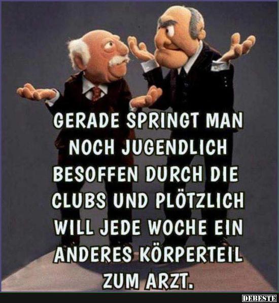 50 Best Statler And Waldorf Images On Pinterest: Gerade Springt Man Noch Jugendlich Besoffen Durch Die