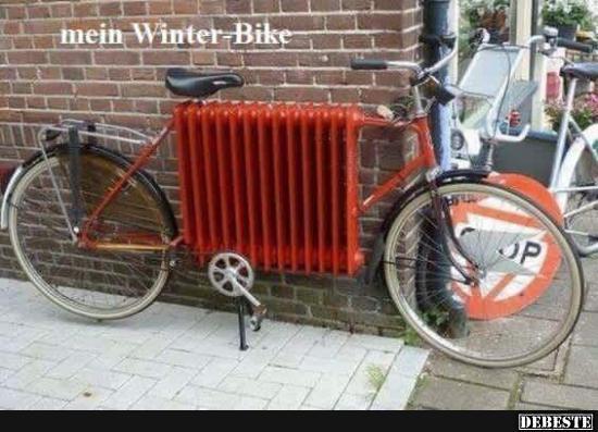 mein winter bike lustige bilder spr che witze echt lustig. Black Bedroom Furniture Sets. Home Design Ideas