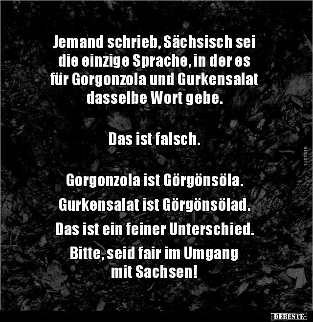 Sprache lustig sächsische Witziges in