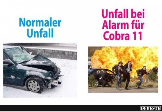 Normaler Unfall / Unfall bei Alarm für Cobra 11.. | Lustige Bilder
