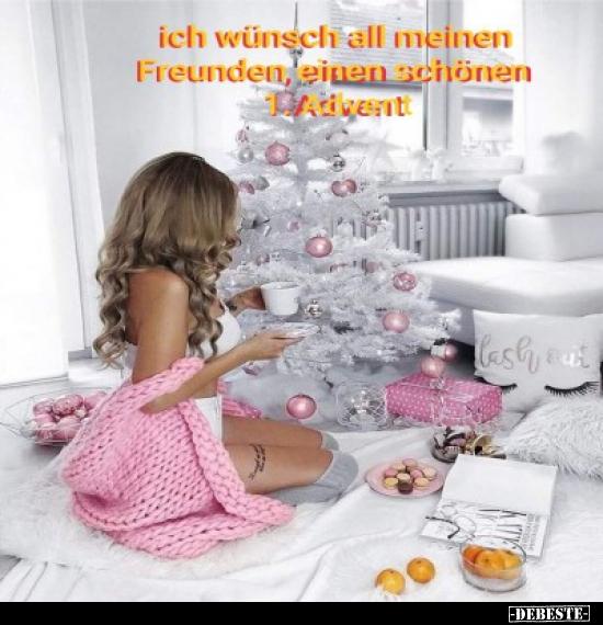 Ich Wünsch All Meinen Freunden Einen Schönen 1 Advent