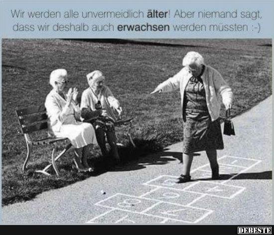 Älter werden witzige sprüche