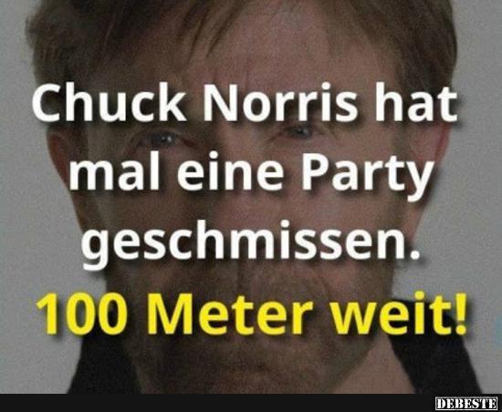 Chuck Norris Hat Mal Eine Party Geschmissen Lustige