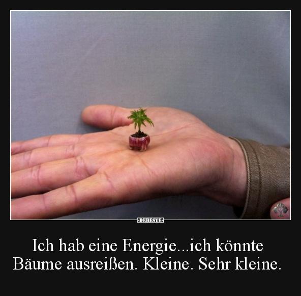 Ich Hab Eine Energieich Könnte Bäume Ausreißen