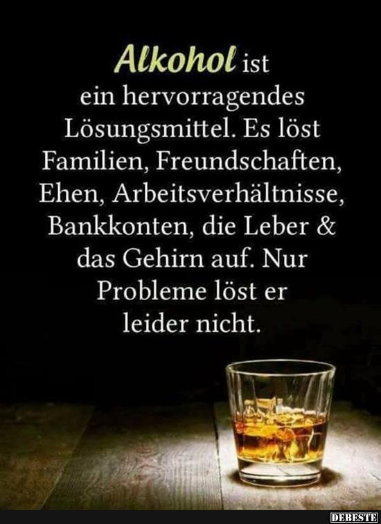 Alkohol Ist Ein Hervorragendes Losungsmittel Lustige Bilder