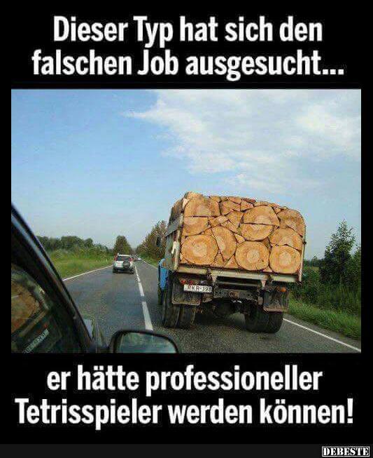 Dieser Typ hat sich den falschen Job ausgesucht.. | Lustige Bilder
