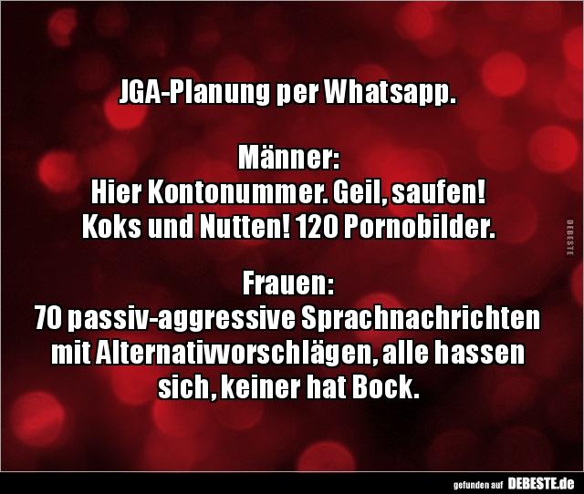 Jga Planung Per Whatsapp Manner Hier Kontonummer Lustige