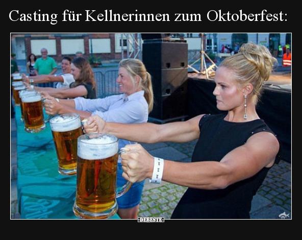 Casting für Kellnerinnen zum Oktoberfest.. | Lustige
